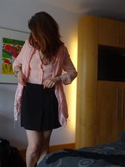 Dressing ... (faberlatusm - 250'000'000 views) Tags: miniskirt shortskirt upskirt legs sexy rose blackskirt erotic sensual redhead breasts transparent transparency nipples