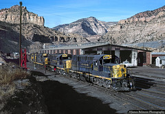 The  Martin Turn at Martin Yard (jamesbelmont) Tags: alco rsd15 rsd12 martin utah coal shop yard helper train railroad locomotive canyon