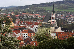 Český Krumlov in April (Jason Shorten) Tags: český krumlov czech republic cz europe town city cityscape landscape culture historical hill steeple bohemia nikon d5300 50mm nikkor