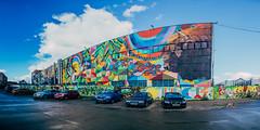 Minsk murals, Belarus (ReinierVanOorsouw) Tags: panorama wallart painting graffiti grafiti minsk belarus witrusland travelling colour colours architecture architectuur belorussia белоруссия panoramic беларусь mural