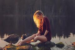 (Øyvind Bjerkholt (Thanks for 39 million+ views)) Tags: sunset dream sensual beautiful gorgeous pretty pose sunlight canon dof bokeh lake water landscape woman girl female she feminine elegance classy fashion beauty portrait outdoors barefeet ambientlight