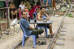 Shanty town at the back of old Railway Station,Phnom Penh (PawelBienkowski) Tags: phnompenh shantytown cambodiapeople slumpeople phnompenhslum asiaslum phnompenhpeople phnompenhrailway cambodiapoor cambodiaslum