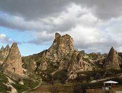 Cappadocia (brisa estelar) Tags: travel nature clouds turkey landscape rocks cappadocia