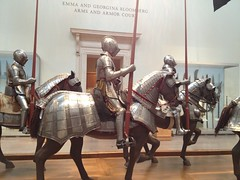Knights in Shining Armor at The Met (RoniLoren) Tags: horses medieval knights armor photostream