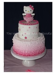 hellloo kitty (The Whole Cake and Caboodle ( lisa )) Tags: pink cakes cake rachel ballerina hellokitty spots whangarei fondant thewholecakeandcaboodle kidscakeswhangarei kidsbirthdaycakeswhangarei