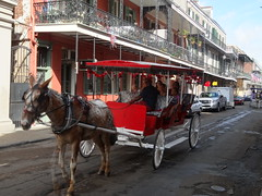 Horse ride in New Orleans (denisbin) Tags: new horse orleans carriage neworleans frenchquarter balconies