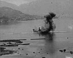 Japanese ship hit 1944 (SSAVE) Tags: hongkong japanese wwii worldwarii nara kowloon usaaf fold3