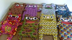 Clothespin Bags - Class of 2013 (made by mauk) Tags: cute animal cat sewing craft clothespinbag madebymauk maukrulz