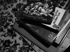 Stacks [178/365] (disnemma) Tags: blackandwhite bw floor books stack day178 day178365 3652013 365the2013edition 27jun13