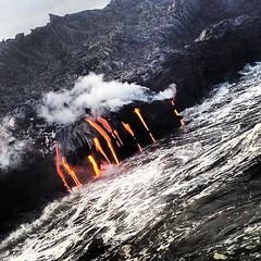 Stew (bianca.giosa) Tags: ocean sea orange hot water square island volcano hawaii lava mar agua pacific smoke squareformat bigisland geology inkwell humo vapor pacifico caliente oceano anaranjado volcan geologia iphoneography instagramapp uploaded:by=instagram