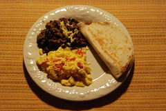 Picture of the Day - June 28, 2013 / Last Dinner (sitzmansitzman) Tags: gallo beans rice eggs quesadilla pinto