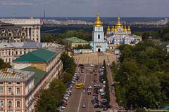St Sophia's Cathedral Clocktower in Kyiv (farflungistan) Tags: architecture ukraine clocktower unesco kiev kyiv stsophia україна київ soborsviatoyisofiyi соборсвятоїсофії
