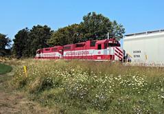 WSOR 3813 (L595)-2 (SW Rail Photos) Tags: train locomotive oshkosh emd gp382 wsor wisconsinsouthern l595 localfreight
