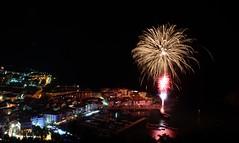 Lekeitio: su artifizialak (azken_tximinoa) Tags: sea night port coast seaside nikon fireworks tripod su bizkaia basquecountry fuegos artificiales lekeitio portua euskal herria gaua biscay ufraw jaiak d90 artifizialak slowshuttermotion