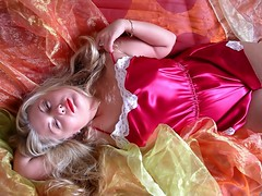 Soft and sexy (Paula Satijn) Tags: red sexy girl beauty lady hair shiny teddy silk blond blonde satin teddie