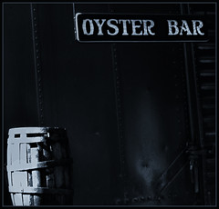 Lambertville Train Station (Patrick McConahay) Tags: bw bar sony barrel oyster pse10