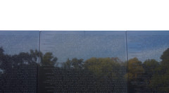 Maya Lin, Vietnam Veterans Memorial, looking up