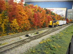 Model trains HO-scale in Walthers showroom (NSCALEFUN) Tags: layout modeltrain display running engines runs ho operation operating diorama freighttrain traincars hoscale operate passengertrain trainlayout modeltrainlayout nscalefun