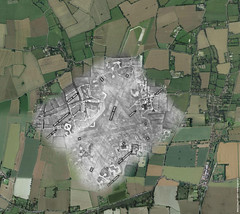 RAF Tibenham aerial/map ghost (Nick J Stone) Tags: map jimmy overlay aerial east stewart airforce 8th anglia tibenham biombers