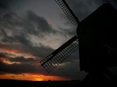 sunset (Jos Mecklenfeld) Tags: sunset mill netherlands windmill cellphone mobilephone groningen molen windmolen terapel westerwolde landschaplandscape xperia flickrandroidapp:filter=none xperiav sonyxperiav