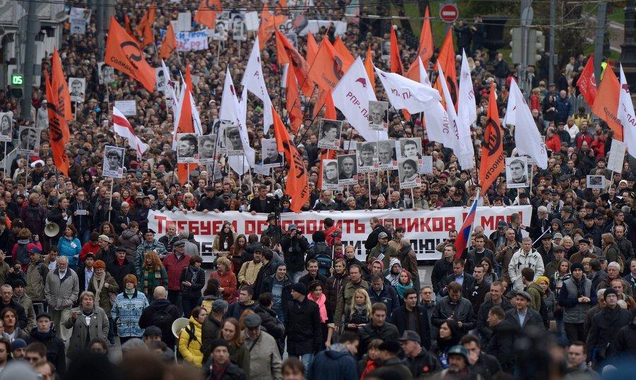 Шествие 27 октября, фото Евгения Биятова, РИА «Новости»