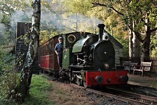 'Edward Thomas' at Dolgoch Station, Talyllyn Railway