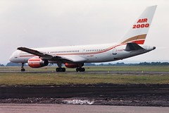 C-FXOD Boeing 757 Air 2000 (markyharky) Tags: airport 2000 glasgow aircraft aviation air boeing 757 gla amm boeing757 glasgowairport avgeek air2000 egpf cfxod