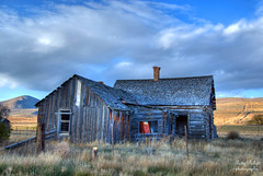 Chesterfield ghost town Idaho (Pattys-photos) Tags: old house cloudy idaho hdr chesterfieldghosttown