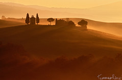 Vitaleta Chapel in The Morning Mist (Tommaso Renzi) Tags: mist nature fog sunrise gold alba campagna val tuscany dorcia vitaleta