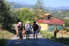 Walkers setting off from Servigliano