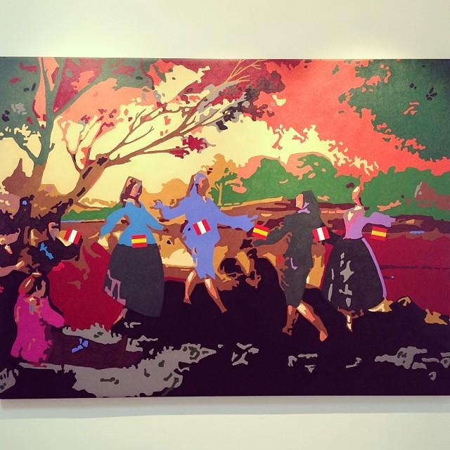 """""""Danza Junto al Manzanares"""" • """"El Diálogo, el Pastiche y la Memoria"""" #muestra individual de Ramiro Pareja Herrera #arte #arteenlima #art #artinlima #artist #artista #pintura #painting"""