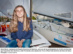 María Bover, campeona de España femenina de Optimist