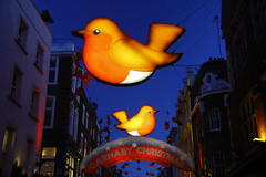 Carnaby Street Christmas Robins (ncs1984) Tags: christmas street uk decorations bird london robin birds night lights robins christmaslights christmasdecorations carnabystreet carnaby