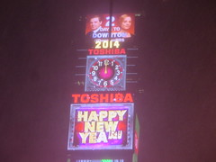 """""""Happy New Year"""" from Times Square, New York City, USA where the New Years Eve ball is dropped, during a winter snow storm (RYANISLAND) Tags: nyc newyorkcity usa snow ny newyork storm cold weather america 14 snowstorm freezing american timessquare snowing storms wintersnow coldweather northeast extremeweather winterstorm noreaster winterweather 2014 snowstorms weatherstorm winterstormhercules"""