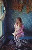 (yyellowbird) Tags: wallpaper house selfportrait abandoned girl illinois gingham lolita cari
