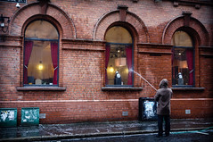 """And the Winner of the """"P***ing the Highest"""" competition is... (Feldore) Tags: ireland windows man funny sony competition belfast hose cleaning clean northern washing mchugh hosing rx100 feldore"""