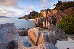 Coucher de soleil sur Anse Source d'Argent #3 [ Île de la Digue ~ Seychelles ] EXPLORED ! (emvri85) Tags: sunset beach zeiss island rocks seychelles plage coucherdesoleil rochers ladigue ansesourcedargent leefilters distagon1835zf distagont3518 d800e