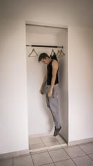 Toy Boy (J.Fougerouse) Tags: boy man photoshop toy levitation montage objet homme cintre