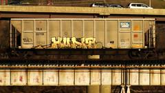 HUNT (BLACK VOMIT) Tags: car train graffiti ol control south el dirty mc dos mind elk coal mayhem freight hunt ssp kamino elkamino coalie mcult