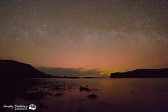 Aurora, Loch Pooltiel, Skye (Andy Stables) Tags: skye canon lights scotland glendale aurora northern borealis milkyway 70d pooltiel milovaig dunveganhead meanish