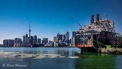 Algoma Progress (Perceptive Eyes) Tags: city winter lake toronto ice water skyline ship lakeontario algomaprogress