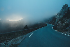 Cap Canaille. (Matthieu Robinet) Tags: alone calanques cassis clouds cretes curves dark elsewhere fog france laciotat landscape massive newlook provence ride road seaside soft south view vision nightmare drive dream todarkness light sun moon mood sad hopeless