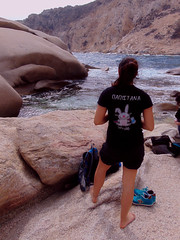 A day at an exhibition 381. Hard hiking, wild swimming and admiring rocks scuptured by nature in Cape Papas, Ikaria (angeloska) Tags: papistana geology sandstone wildswimming cove ikaria kavopapas opsikarias karkinagri trailofthelighthouseguards march girls rockclimbing hiking aegean greece sea rocks ικαρία καρκινάγρι κάβοπάπασ μονοπάτια hollowrocks οπσικαρίασ παπιστάν mavri