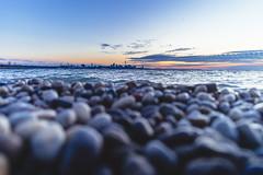Pebble Beach (Smaku) Tags: pebble beach toronto sunrise landscape lakeontario nature water sky blue