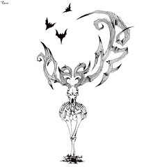Bondeer (reXraXon) Tags: raxon art artwork pencilart drawing handdrawing sketch pencilsketch typography lettering handlettering letteringart deer skull bone bat