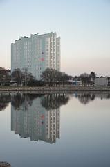 Sillaskrapan (Kerstin Jönsson) Tags: highrise flats building mirror sea hotel stranden byggnad höghus limhamn skane sweden
