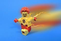 Kid Flash (MrKjito) Tags: lego minifig super hero comic comics kid flash wally west teen titan speed force pre new 52 iris barry allen dc waterslide decal custom