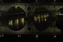 Double bridge (BribbroPhoto) Tags: canoneos6d tamronspaf70200mmf28diif roma rome tevere fiume river night notte light luci reflection riflessi