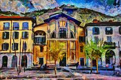 Chiesa Di San Giacomo, Como (Kalev Vask.) Tags: digital kalevvask postprocessed photoshop photomanipulation digiart photoart painterly artistic creative italy spring como dap on1 buildings hss