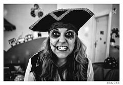 pirate (Aljaž Anžič Tuna) Tags: 303 303365 365 pirate woman girl funny happy children kids young younggirl scar scary eyes photo365 project365 portrait portraitunlimited people onephotoaday onceaday 35mm 365challenge 365project d800 dailyphoto day dof bw blackandwhite black blackwhite beautiful white nikond800 nikkor nice naturallight nikkor28mm 28mm 28mmf28 f28 monocrome monochrome